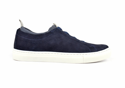 Beckett Water-Repellent Nubuck Sneakers - Navy