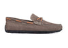 Bermuda Denim Nubuck Braided Leather Bit and Collar Lacing Loafer - Slate