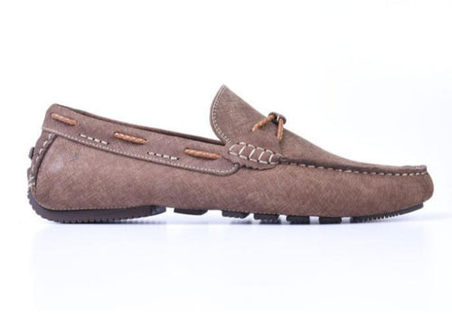 Bermuda Braid Denim Nubuck Leather Bit Loafer - Bark