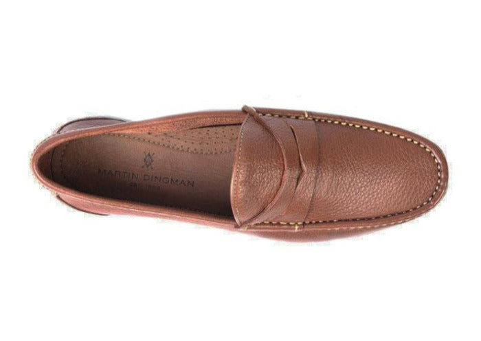 Addison Tumbled Glove Leather Penny Loafer - Saddle Tan