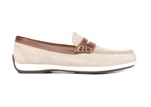 Seaside Washed Canvas Penny Loafer - Oyster