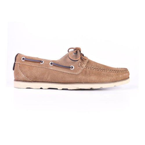 Newbury Camp Water Repellent Suede Moc - Cappuccino