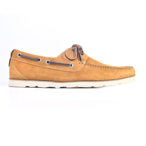 Newbury Camp Water Repellent Suede Moc - Sunflower