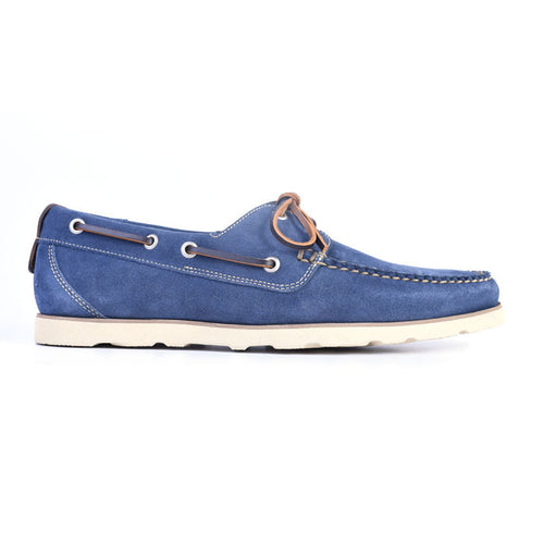 Newbury Camp Water Repellent Suede Moc - Marine