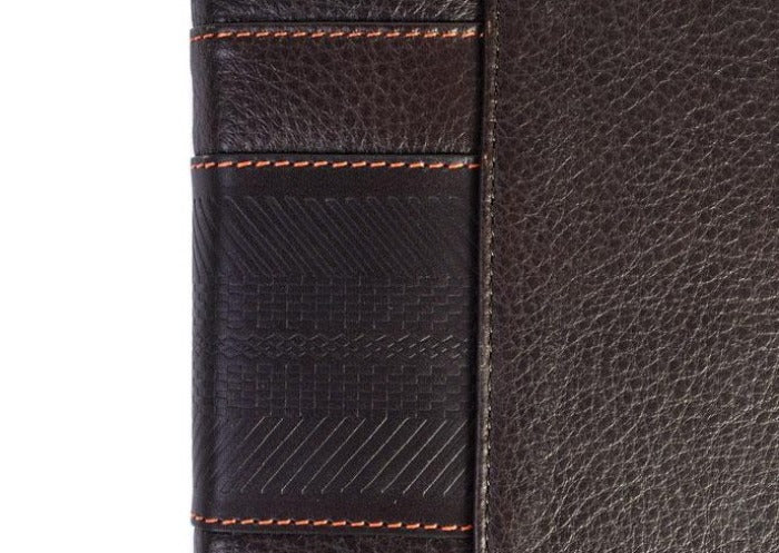 Rudyard Tumbled Saddle Leather Portfolio