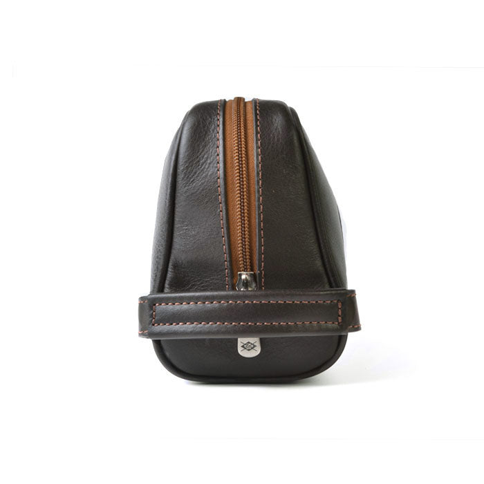 Rudyard Groom Tumbled Saddle Leather Shave Case