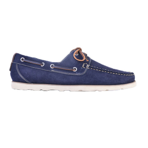 Newbury Camp Water Repellent Suede Moc - Navy