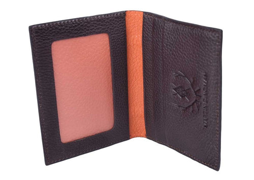 Rudyard Saddle Leather I.D. Wallet - Chocolate