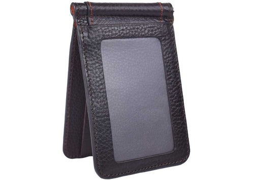 Rudyard Saddle Leather Money Clip - Chocolate