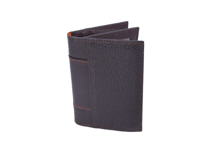 Rudyard Saddle Leather Tri-fold Wallet - Chocolate