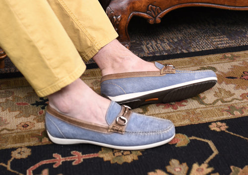Seaside Washed Canvas Horse Bit Loafer - Ocean