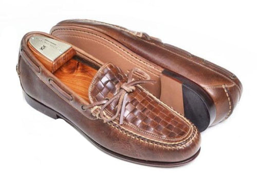 Beauregard Bow-Tie Cigar-Oiled Saddle Leather Slip-On