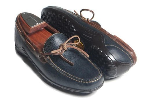 Bill Bow-Tie Lace Loafer - Marine Water Buffalo