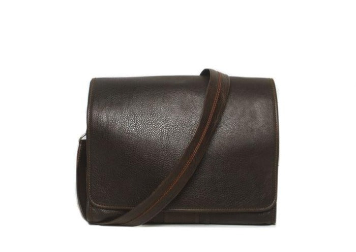 Rudyard Tumbled Saddle Leather Courier Bag