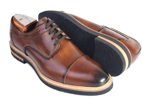 Tuscan Hand Stained Italian Saddle Leather Cap Toe