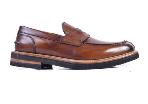 Tuscan Hand Stained Italian Saddle Leather Penny Loafer