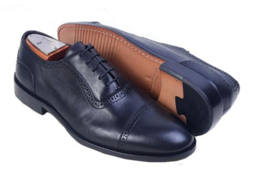 Charleston Dress Calf Leather Cap Toe Oxford - Black