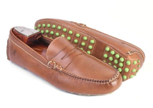 Peyton Tumbled Glove Leather Penny Driving Loafer