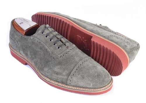 Liverpool Water Repellent Suede Cap Toe Blucher