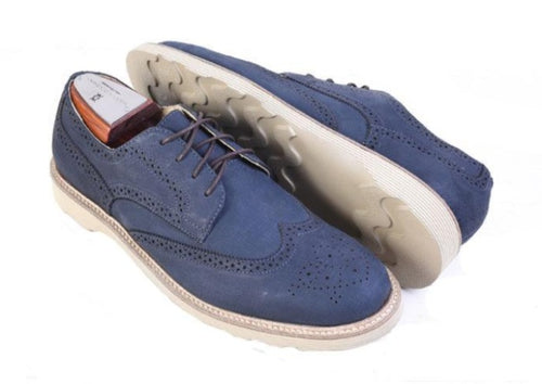 Highland Wingtip Lace-Up - Indigo