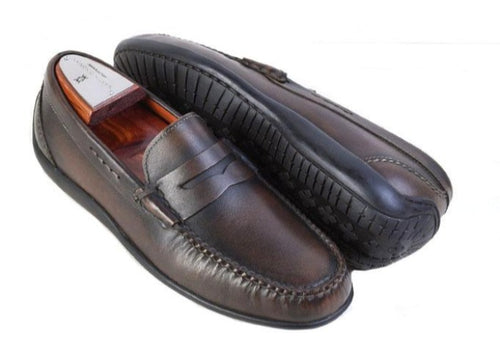 Saxon II Saddle Leather Penny Slip On