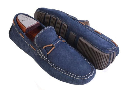 Bermuda Braid Nubuck Leather Bit Driving Loafer - Navy