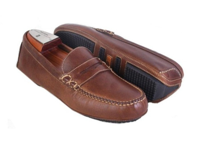 Old Row Oiled Saddle Leather Driving Penny Loafer