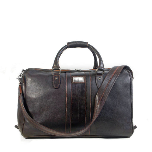 Lexington Tumbled Saddle Leather Duffel Bag