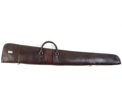 Rudyard Tumbled Saddle Leather Shotgun Case