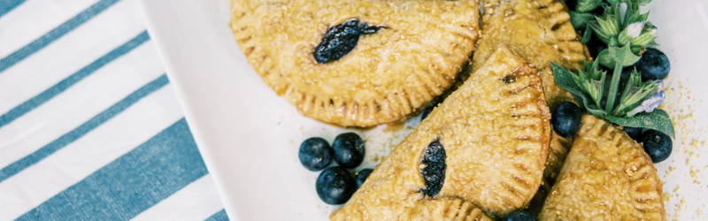 PEANUT BUTTER – BLUEBERRY CHIA JAM HAND PIES