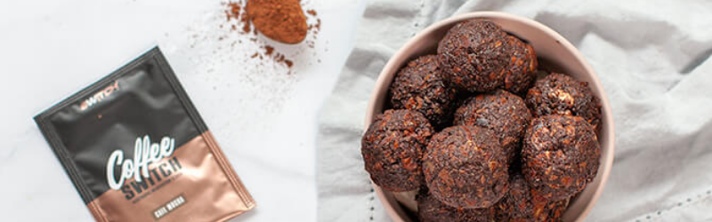 NO BAKE CHOCOLATE COFFEE PROTEIN BALLS