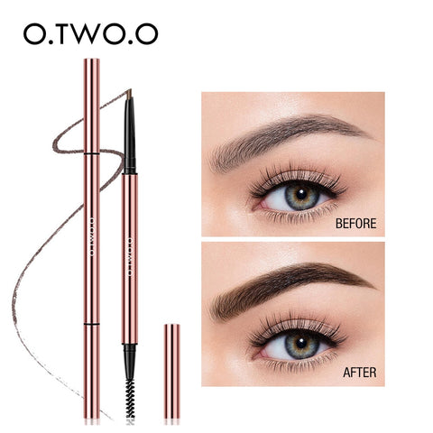 O.TWO.O Ultra Fine Triangle Eyebrow Pencil Precise Eye Brow Makeup 6 Colors