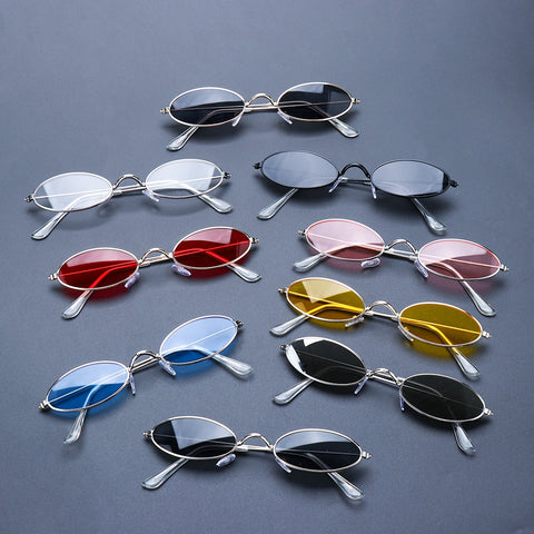Fashion Vintage Shades SunGlasses Elegant okulary Retro Small Oval Sunglasses