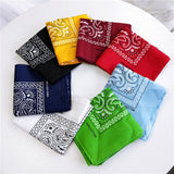 Unisex Cotton Blend Hip Hop Bandana Headwear Hair Band Scarf Neck Wrist Wrap Band Magic  Head Square Scarf