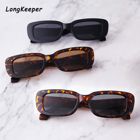 2020 Square Sun Glasses Luxury Brand Travel Small Rectangle vintage style