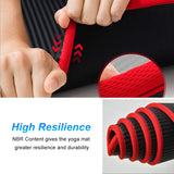 NBR 10 mm yoga mat has a high level no slip resistance material and is more versatile and stronger then average mats
