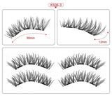 2 pair of 3D magnetic eyelashes handmade Mink eyelashes eye makeup extended false eyelashes repeated use magnetic fake eyelashes