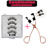 LEKOFO 8D 2 Pairs Magnetic Eyelashes 5 Magne Set Mink Eyelashes Thick faux cils magnetique Natural False Lashes+Tweezers