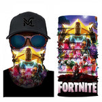 Fortnite 3D Digital Printing Headscarf Motorcycle Head Scarf Neck Warmer Face Mask Face Shield Outdoor Cycling Sunscreen Scarf