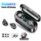 F9 TWS Bluetooth 5.0 Wireless Earphones,Touch Control Earphones Stereo Sport, LED Display Gaming