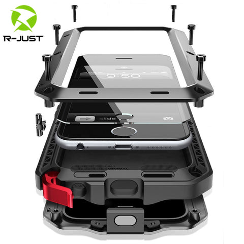 Heavy Duty Protection Armor Metal Aluminum phone Case for iPhone 11 12 mini Pro XS MAX SE 2 8 Plus Shockproof Cover
