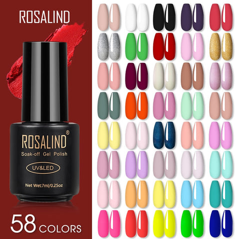 ROSALIND Gel Nail Polish Lamp All For Nails Art Manicure With Matt Base Top Coat Semi Permanant Gellak Nail Gel Polish Varnishes
