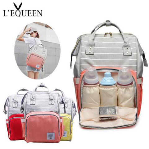 LEQUEEN Diaper Bag Multi-Function, Large Capacity baby Travel Bag