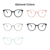 2021 Trends Office Anti Blue Light Oversized Retro Gaming glasses alloy Frame