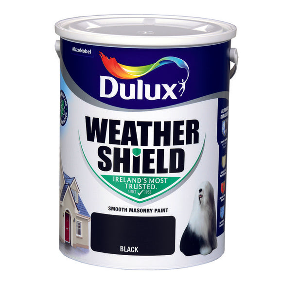 Dulux Weathershield Black  08E53 5L - T.O'Higgins Homevalue - Galway