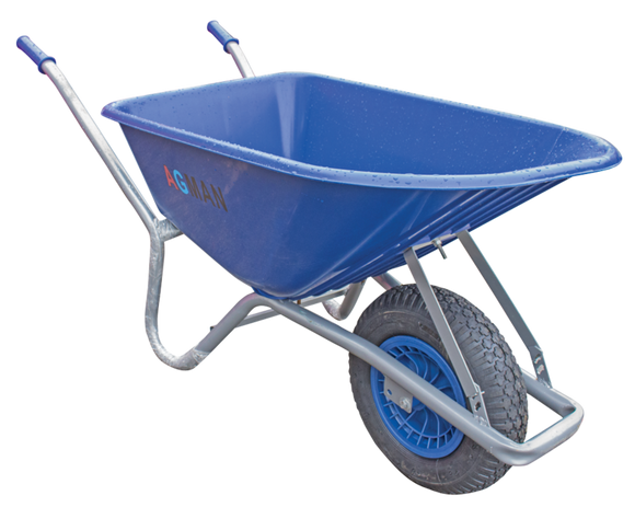 100 Ltr Blue PVC Garden Wheelbarrow Assembled - T.O'Higgins Homevalue - Galway