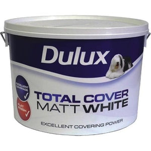 Dulux Total Cover Matt White  10 Litre - T.O'Higgins Homevalue - Galway