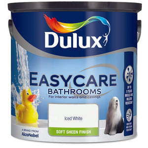 Dulux Easycare Bathrooms Iced White  2.5L - T.O'Higgins Homevalue - Galway