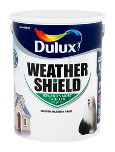 Dulux Weathershield Brilliant White 5L - T.O'Higgins Homevalue - Galway