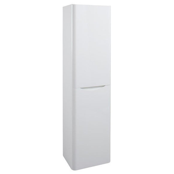 Bali White Gloss Wall Mounted Storage Unit. (Tall Boy) - T.O'Higgins Homevalue - Galway